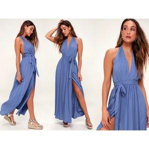 Magical Movement Periwinkle Blue Wrap Maxi Dress